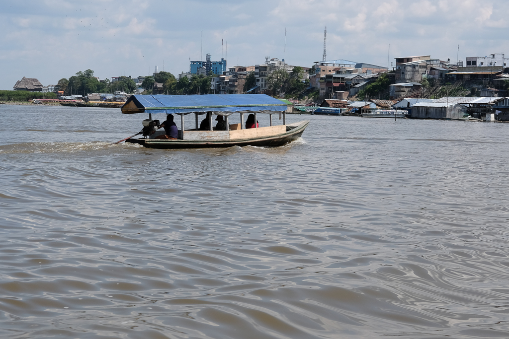 Navigating the Amazon at Iquitos